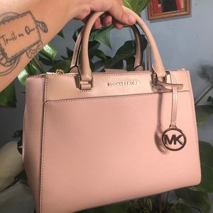 MICHAEL KORS Baby Pink Satchel Handbag